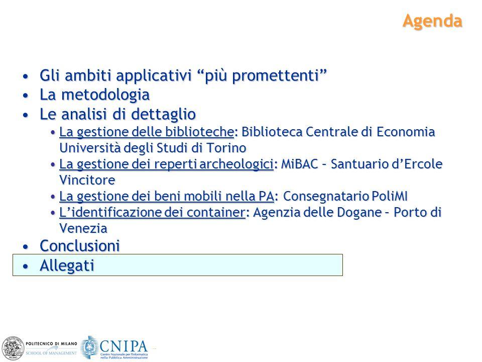 """43 Agenda Gli ambiti applicativi """"più promettenti""""Gli ambiti applicativi """"più promettenti"""" La metodologiaLa metodologia Le analisi di dettaglioLe anal"""