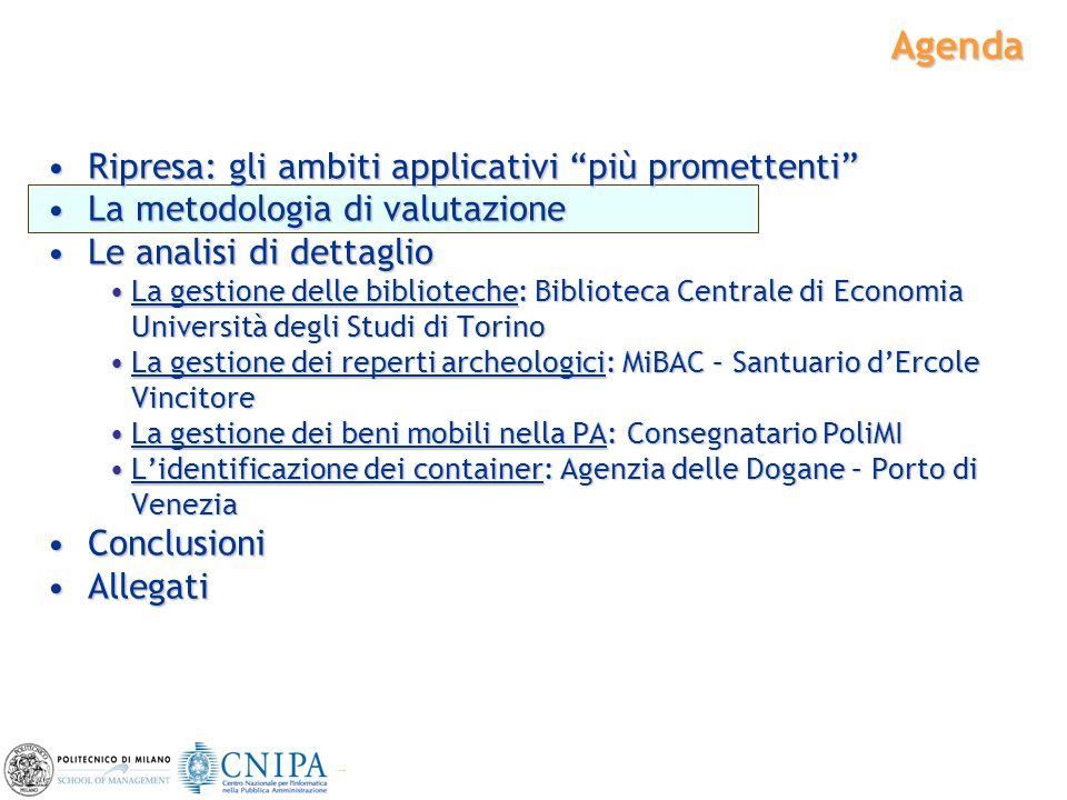 """6 Agenda Ripresa: gli ambiti applicativi """"più promettenti""""Ripresa: gli ambiti applicativi """"più promettenti"""" La metodologia di valutazioneLa metodologi"""