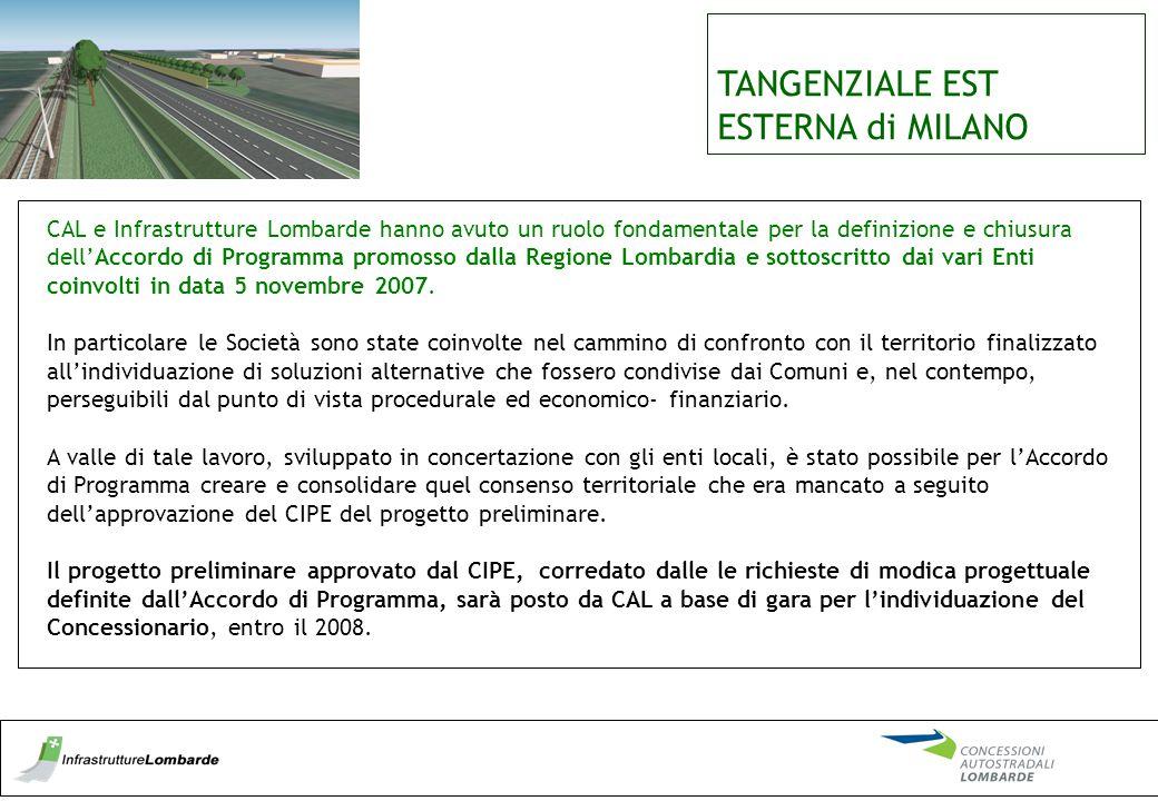 TANGENZIALE EST ESTERNA di MILANO CAL e Infrastrutture Lombarde hanno avuto un ruolo fondamentale per la definizione e chiusura dell'Accordo di Progra