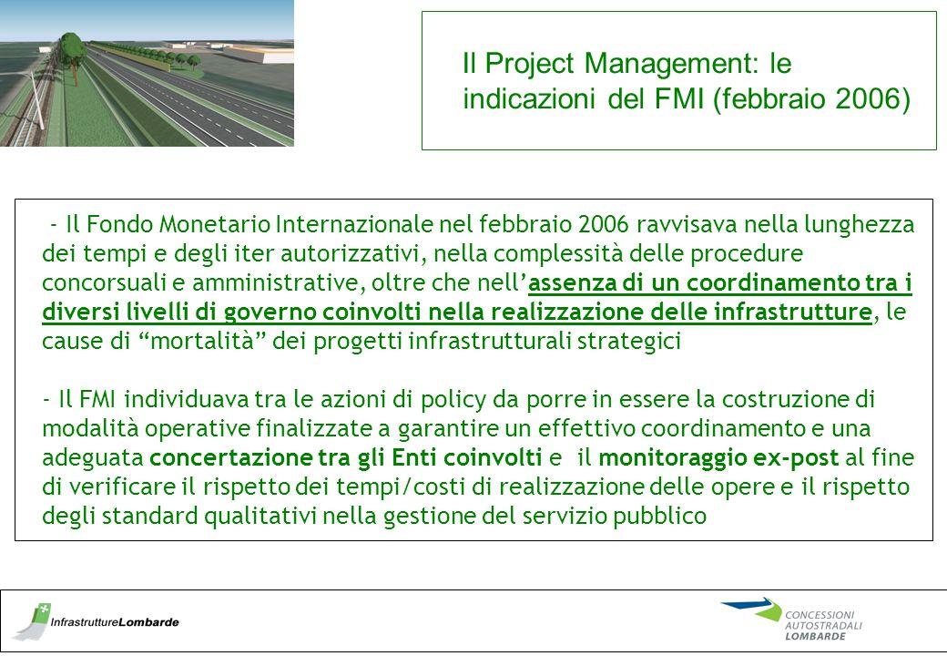 - Il Fondo Monetario Internazionale nel febbraio 2006 ravvisava nella lunghezza dei tempi e degli iter autorizzativi, nella complessità delle procedur