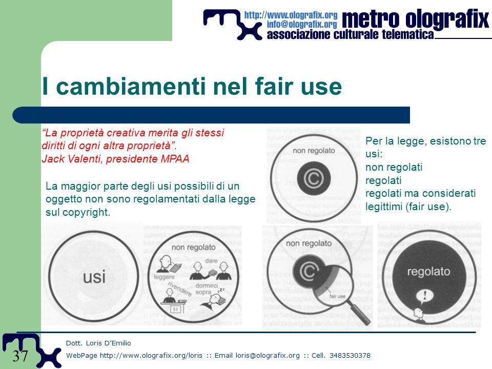 37 I cambiamenti nel fair use Dott.
