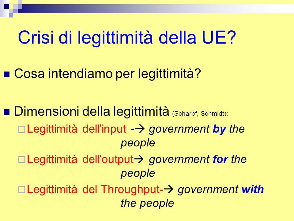 Crisi di legittimità della UE. Cosa intendiamo per legittimità.
