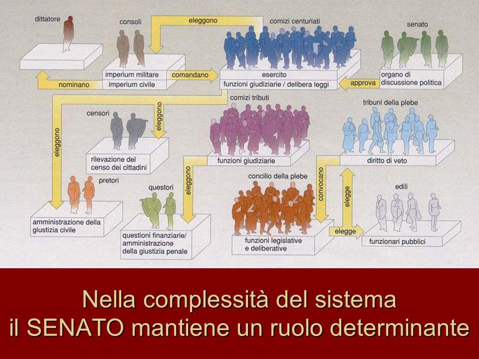 Nella complessità del sistema il SENATO mantiene un ruolo determinante