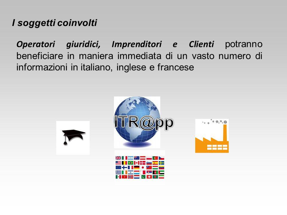 Operatori giuridici, Imprenditori e Clienti potranno beneficiare in maniera immediata di un vasto numero di informazioni in italiano, inglese e france