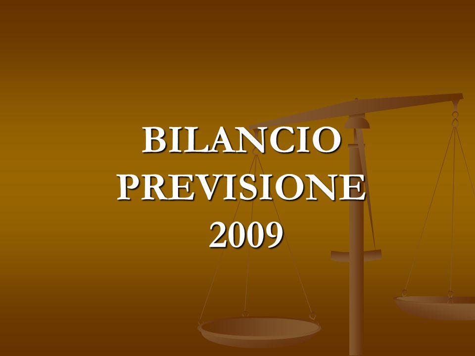 BILANCIO PREVISIONE 2009
