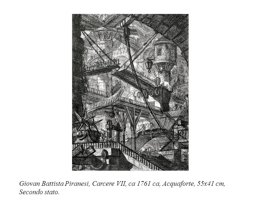 Giovan Battista Piranesi, Carcere VII, ca 1761 ca, Acquaforte, 55x41 cm, Secondo stato.
