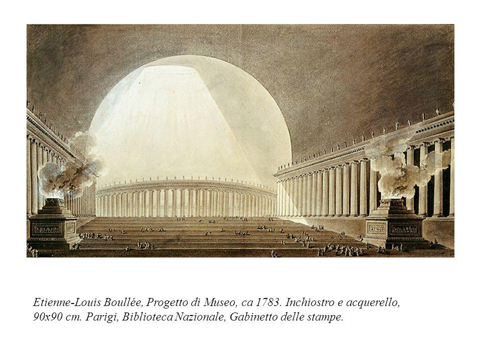 Etienne-Louis Boullée, Progetto di Museo, ca 1783. Inchiostro e acquerello, 90x90 cm. Parigi, Biblioteca Nazionale, Gabinetto delle stampe.