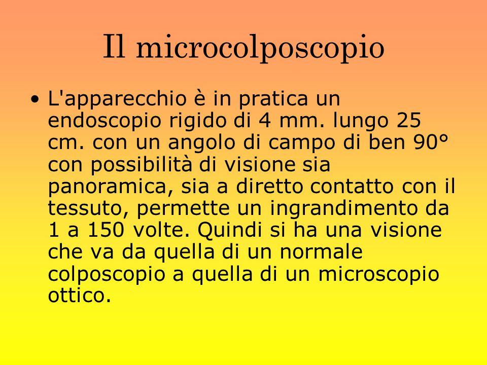Il microcolposcopio L apparecchio è in pratica un endoscopio rigido di 4 mm.