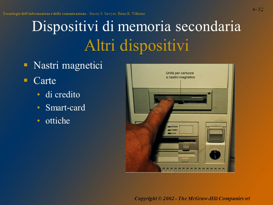 4- 32 Tecnologie dell'informazione e della comunicazione - Stacey S. Sawyer, Brian K. Williams Copyright © 2002 - The McGraw-Hill Companies srl Dispos