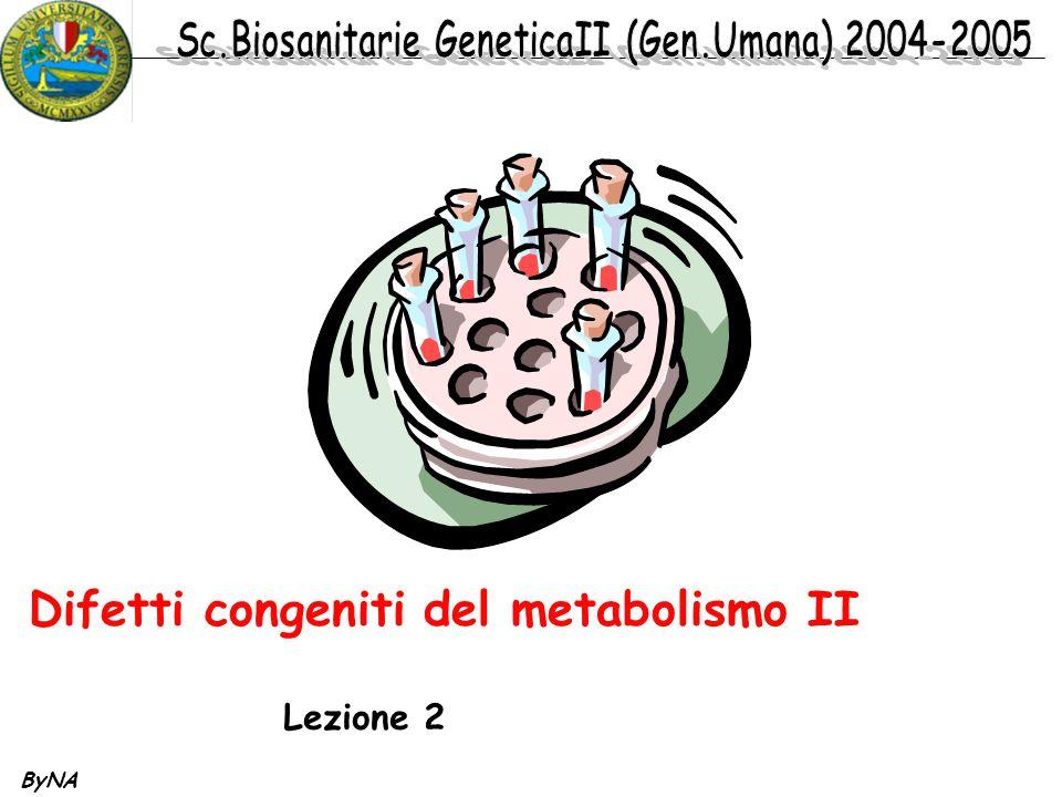 ByNA Difetti congeniti del metabolismo II Lezione 2