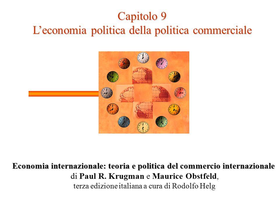 Capitolo 9 L'economia politica della politica commerciale Economia internazionale: teoria e politica del commercio internazionale di Paul R.