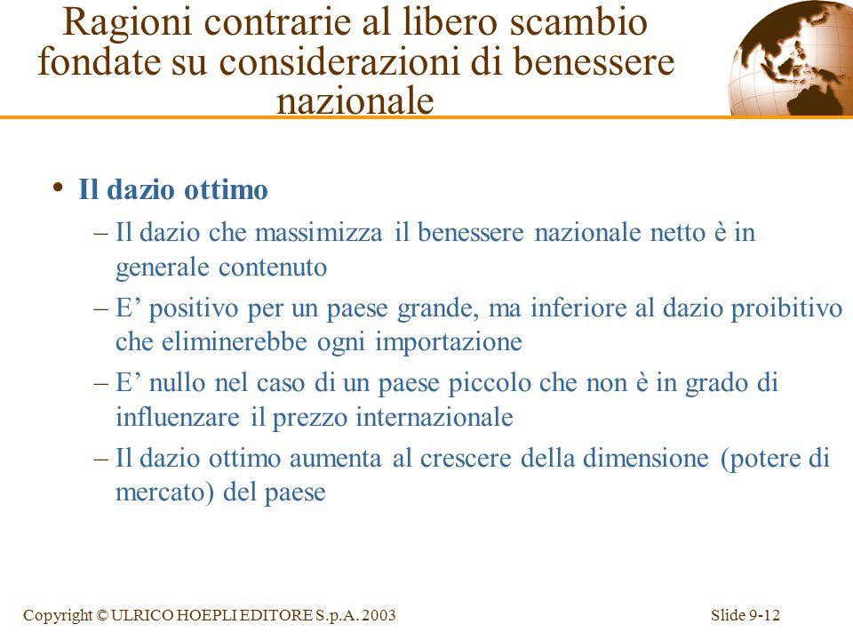 Slide 9-12Copyright © ULRICO HOEPLI EDITORE S.p.A.