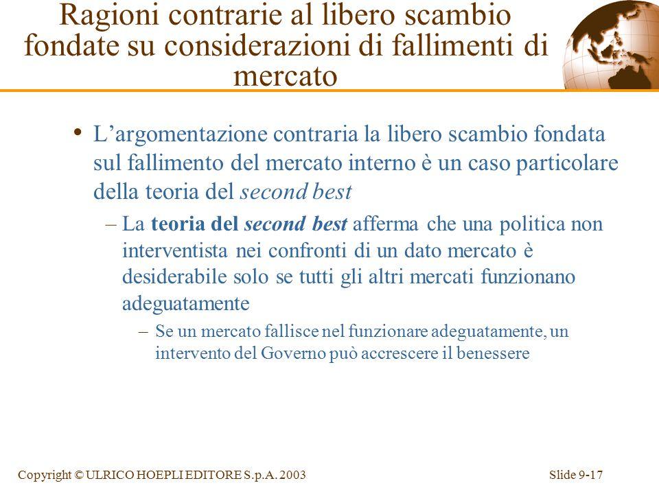 Slide 9-17Copyright © ULRICO HOEPLI EDITORE S.p.A.