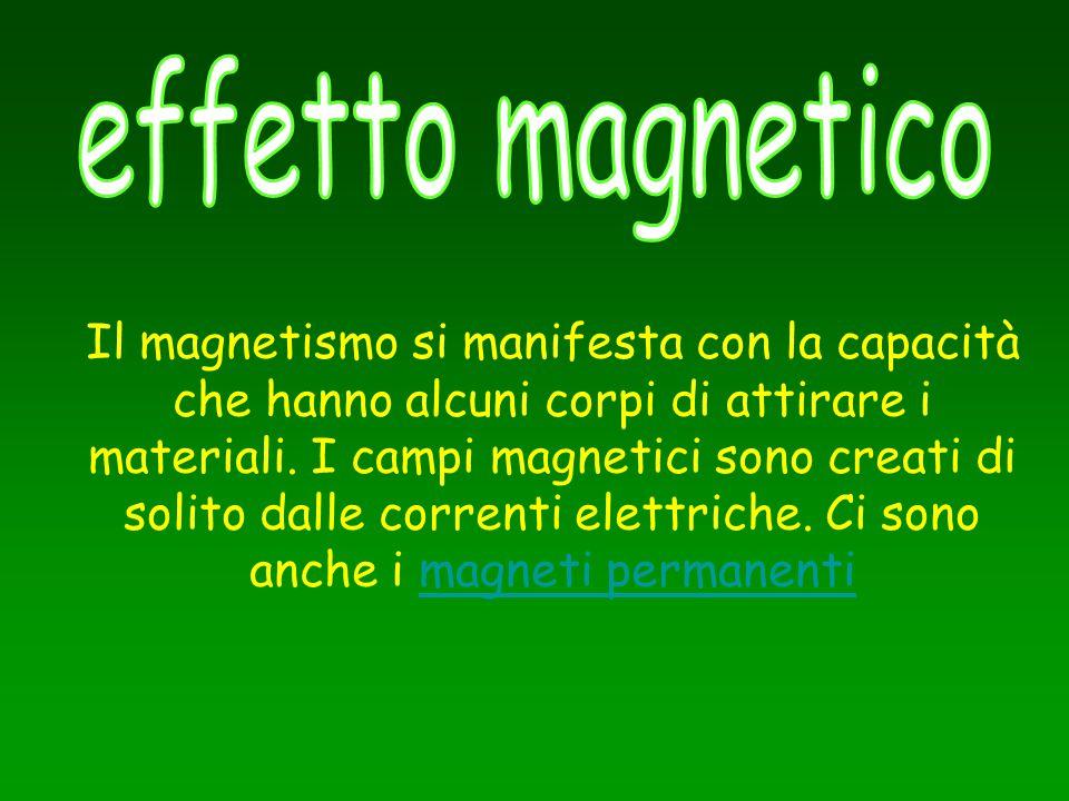 Il magnetismo si manifesta con la capacità che hanno alcuni corpi di attirare i materiali. I campi magnetici sono creati di solito dalle correnti elet