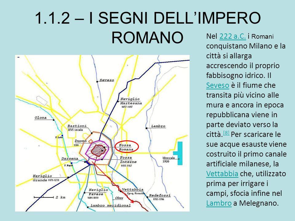 Nel 222 a.C. i Romani conquistano Milano e la città si allarga accrescendo il proprio fabbisogno idrico. Il Seveso è il fiume che transita più vicino