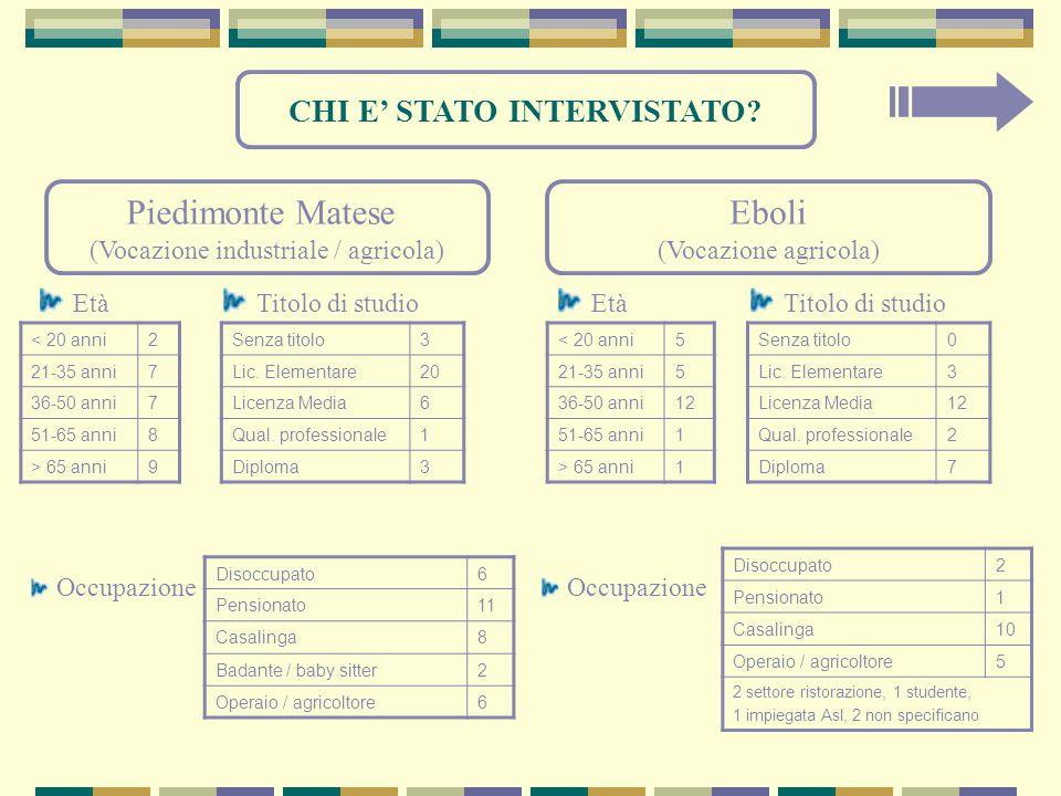 CHI E' STATO INTERVISTATO.