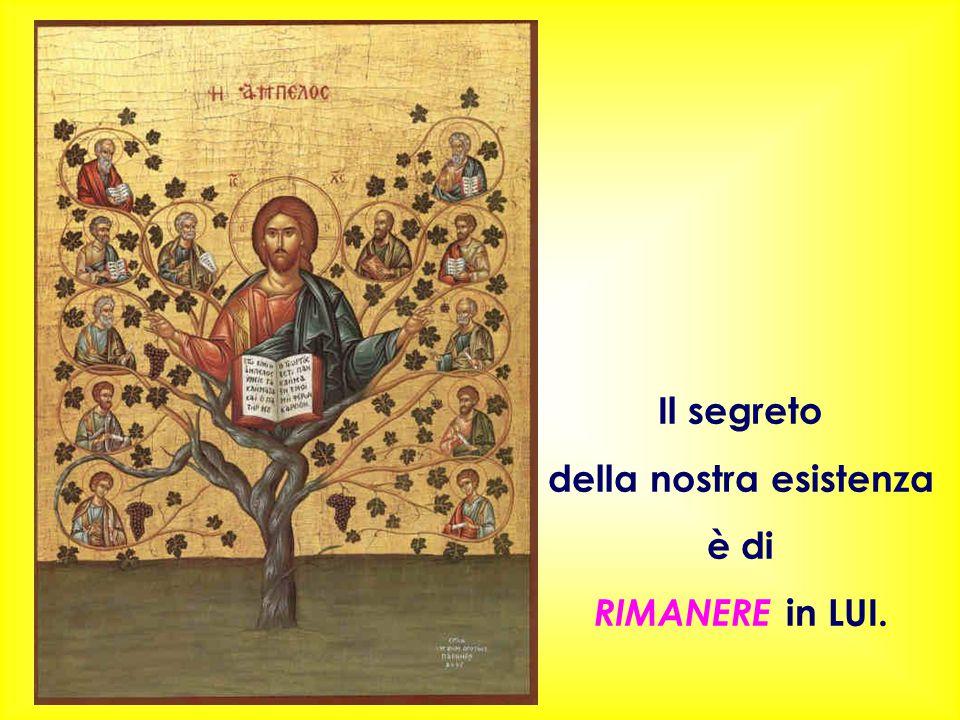 Il segreto della nostra esistenza è di RIMANERE in LUI.