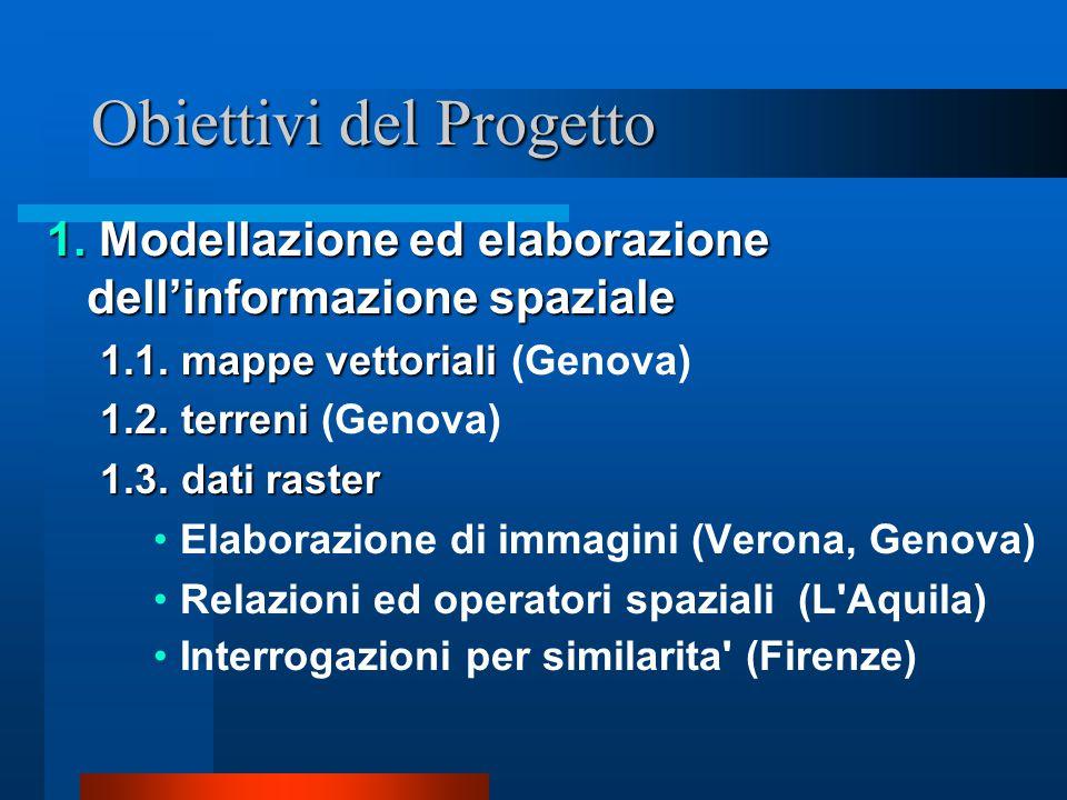 Obiettivi del Progetto 1. Modellazione ed elaborazione dell'informazione spaziale 1.1.