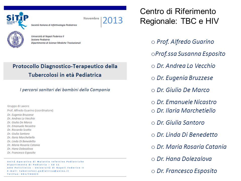 o Prof. Alfredo Guarino o Prof.ssa Susanna Esposito o Dr. Andrea Lo Vecchio o Dr. Eugenia Bruzzese o Dr. Giulio De Marco o Dr. Emanuele Nicastro o Dr.