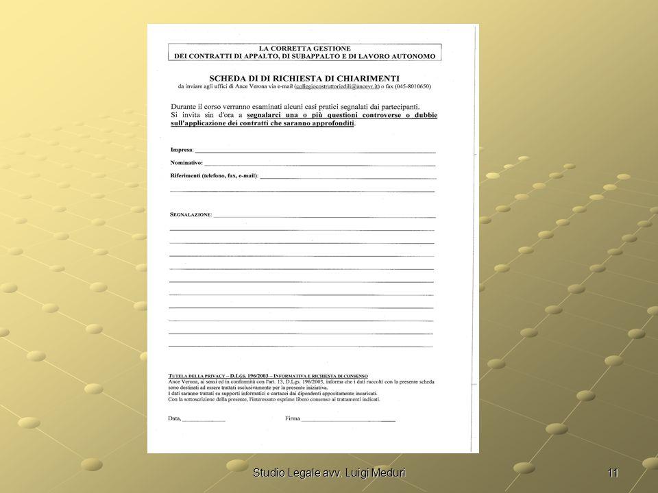 11Studio Legale avv. Luigi Meduri