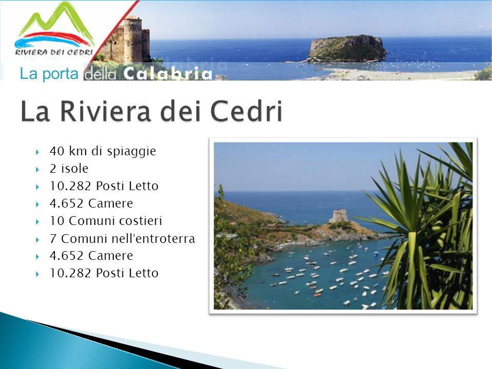 La porta  40 km di spiaggie  2 isole  10.282 Posti Letto  4.652 Camere  10 Comuni costieri  7 Comuni nell'entroterra  4.652 Camere  10.282 Posti Letto