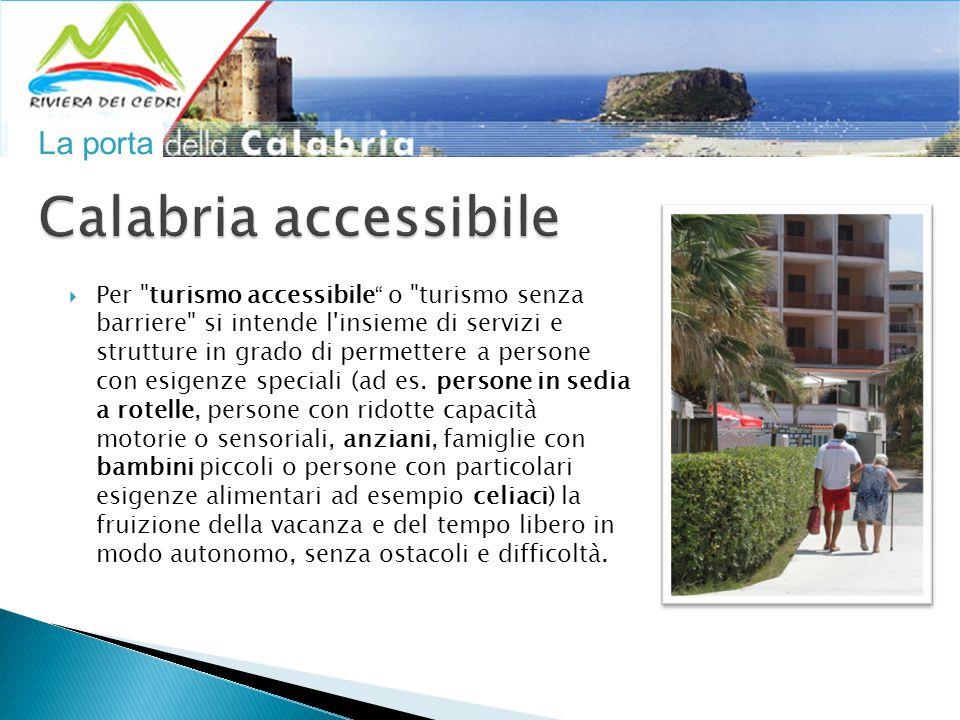 La porta  Per turismo accessibile o turismo senza barriere si intende l insieme di servizi e strutture in grado di permettere a persone con esigenze speciali (ad es.