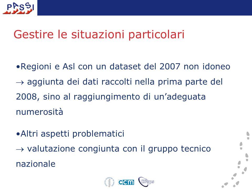 La situazione nelle Regioni/PA RegioniTotale interviste 2007 PIEMONTE3.266 VALLE D AOSTA181 LOMBARDIA45 P.