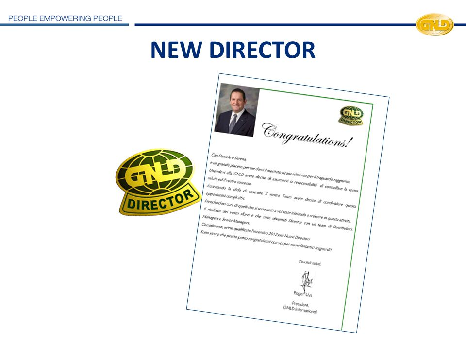 NEW DIRECTOR