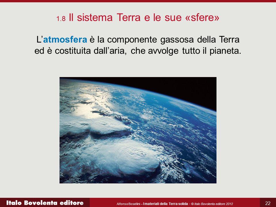 Alfonso Bosellini – I materiali della Terra solida - © Italo Bovolenta editore 2012 22 L'atmosfera è la componente gassosa della Terra ed è costituita
