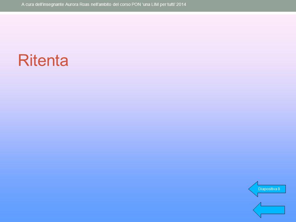 Ritenta Diapositiva 8 A cura dell'insegnante Aurora Roas nell'ambito del corso PON 'una LIM per tutti' 2014