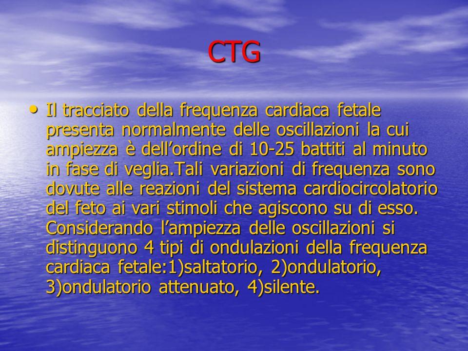 CTG Il tracciato della frequenza cardiaca fetale presenta normalmente delle oscillazioni la cui ampiezza è dell'ordine di 10-25 battiti al minuto in f