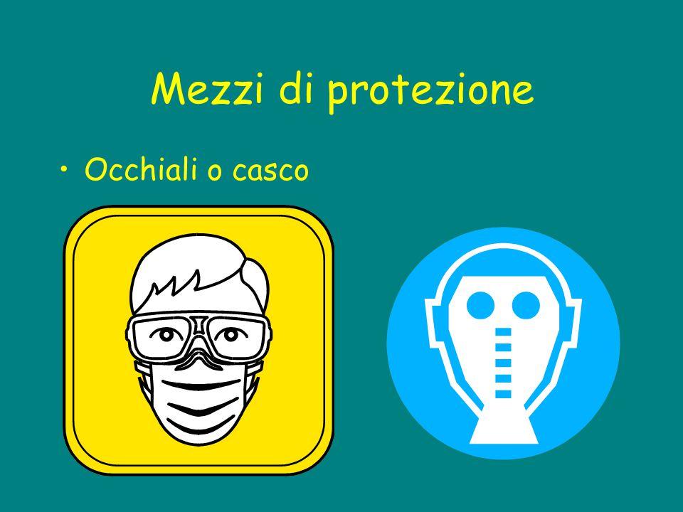 Mezzi di protezione Occhiali o casco