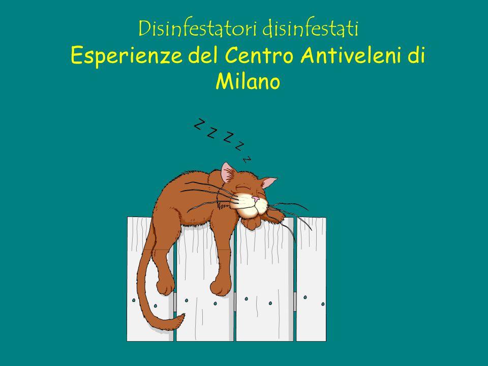 Disinfestatori disinfestati Esperienze del Centro Antiveleni di Milano