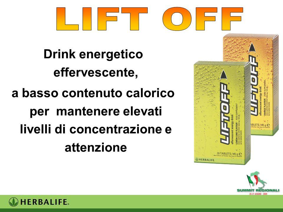 Drink energetico effervescente, a basso contenuto calorico per mantenere elevati livelli di concentrazione e attenzione