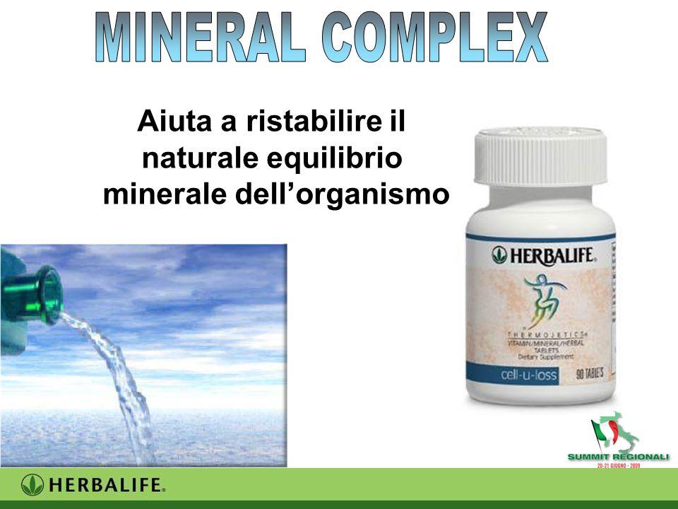 Aiuta a ristabilire il naturale equilibrio minerale dell'organismo