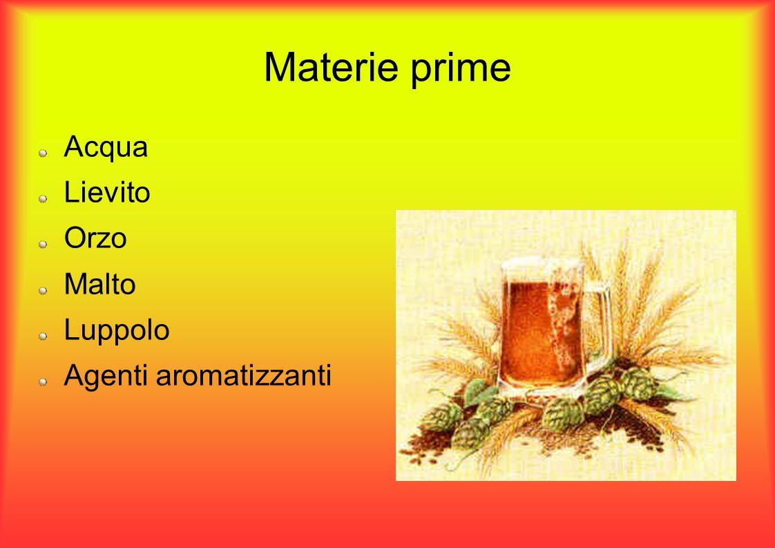 Materie prime – L acqua La maggior parte della birra è composta da acqua.