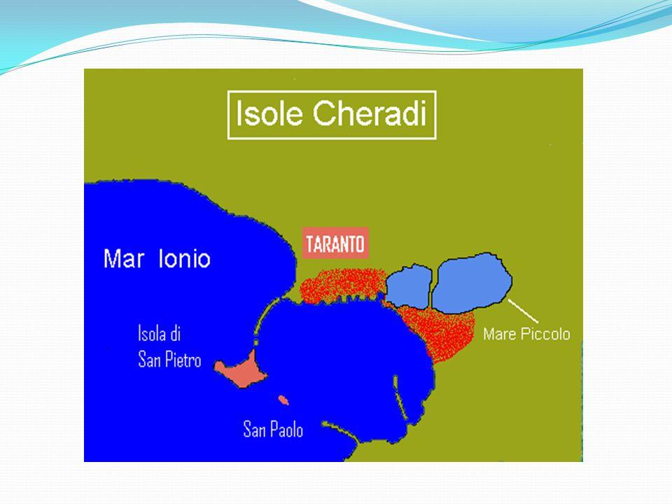 TURISMO CULTURALE: LE ISOLE CHERADI : L'ORIGINE GEOLOGICA Nel Medio Evo,gli abitanti di Taranto costruirono sull'isolotto di San Nicolicchio una chiesetta dedicata a San Nicola,vescovo di Mira.
