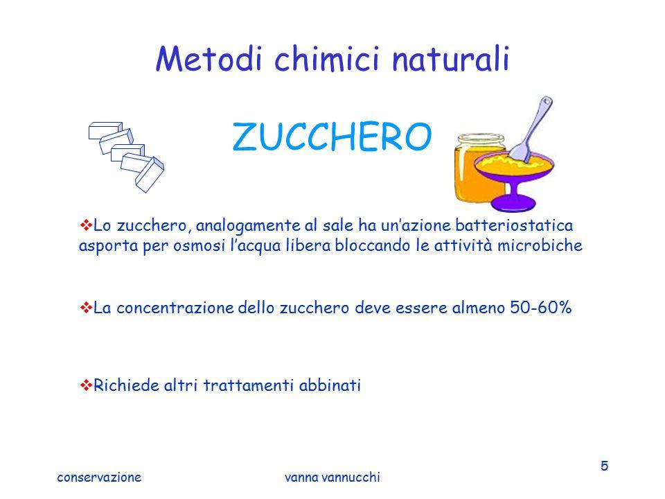 conservazionevanna vannucchi 5 Metodi chimici naturali ZUCCHERO  Lo zucchero, analogamente al sale ha un'azione batteriostatica asporta per osmosi l'
