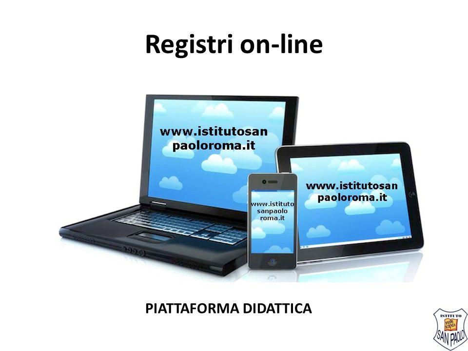 Registri on-line PIATTAFORMA DIDATTICA