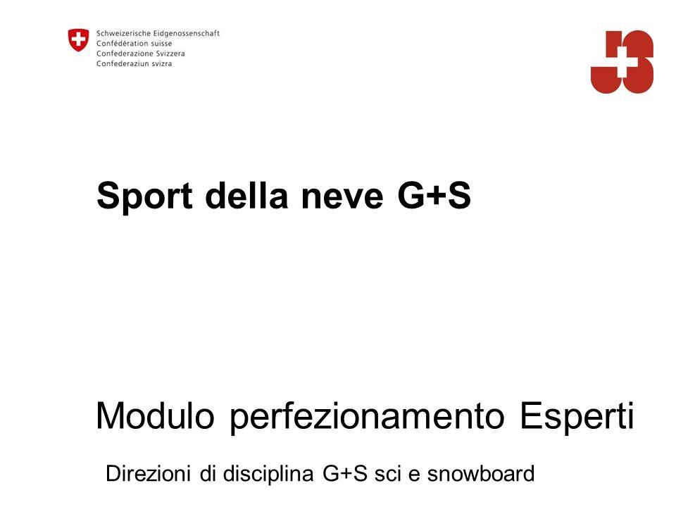 Sport della neve G+S Direzioni di disciplina G+S sci e snowboard Modulo perfezionamento Esperti
