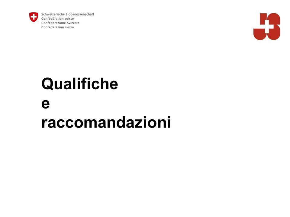 Qualifiche e raccomandazioni