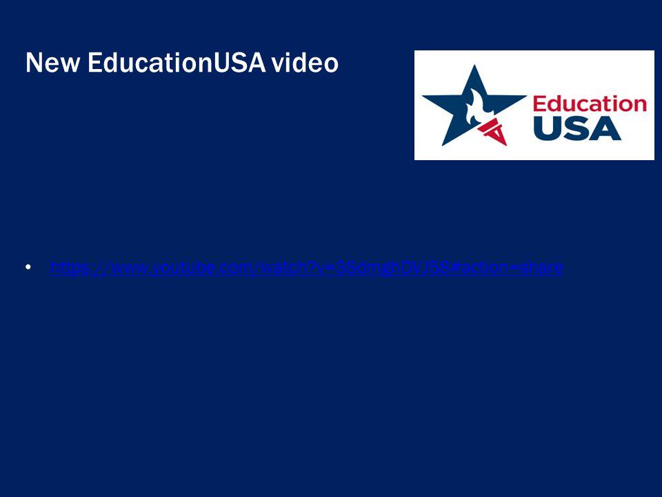 New EducationUSA video https://www.youtube.com/watch?v=3SdmghDVJ58#action=share