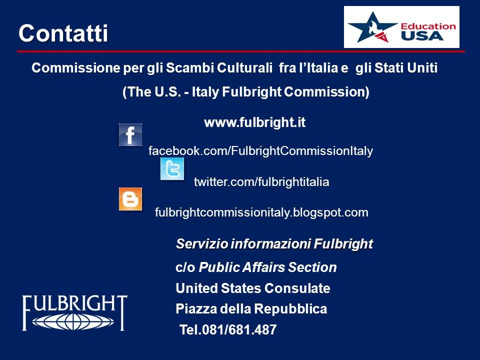 Contatti Commissione per gli Scambi Culturali fra l'Italia e gli Stati Uniti (The U.S.