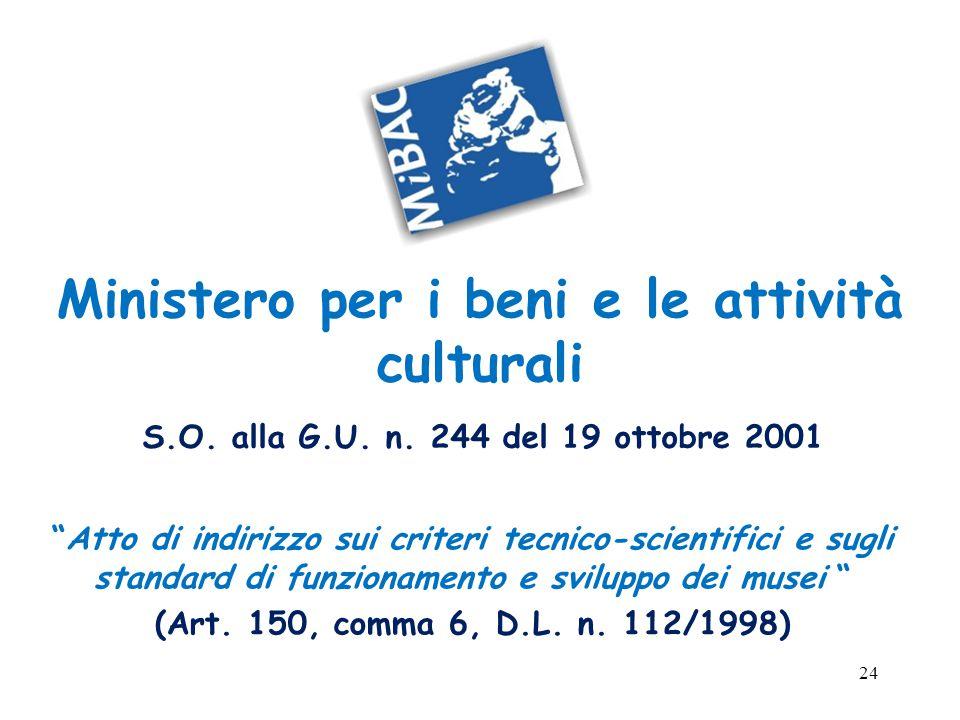 24 Ministero per i beni e le attività culturali S.O.