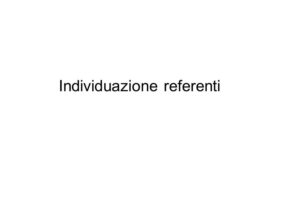 Individuazione referenti