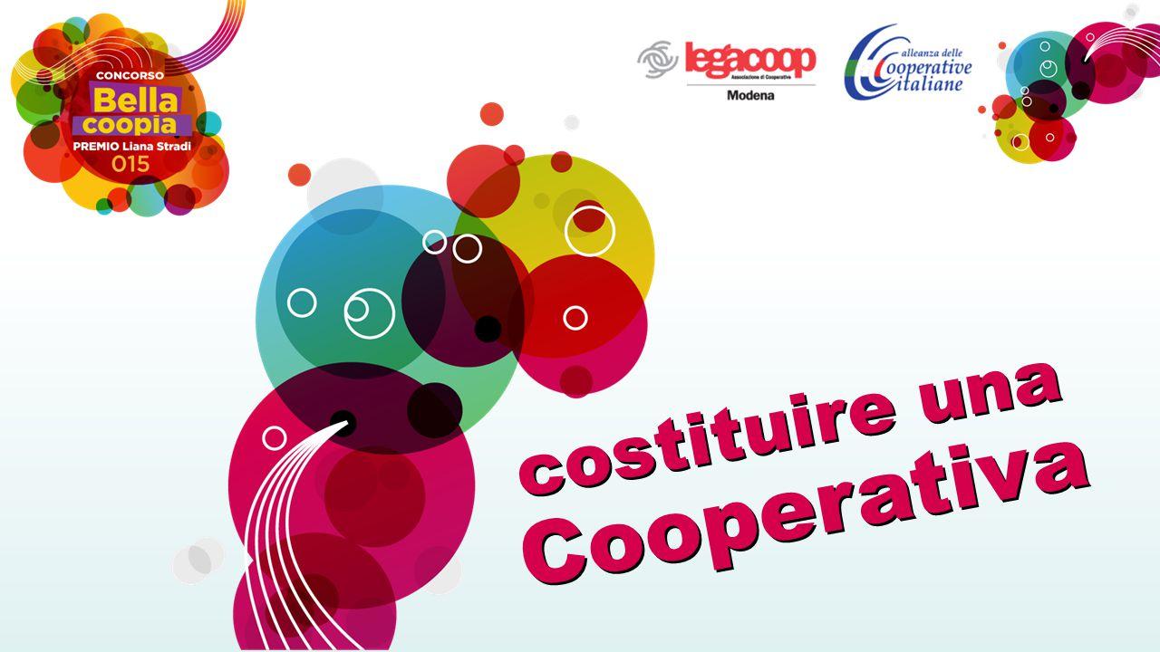 Atto Costitutivo La cooperativa deve costituirsi per atto pubblico, cioè Redatto dal Notaio.
