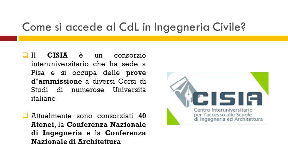 Come si accede al CdL in Ingegneria Civile.