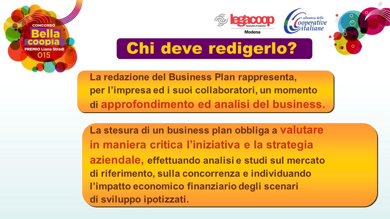 Chi deve redigerlo? La redazione del Business Plan rappresenta, per l'impresa ed i suoi collaboratori, un momento di approfondimento ed analisi del bu