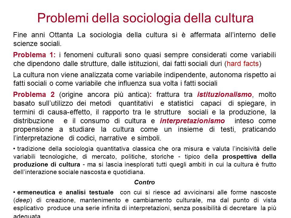 Il tentativo di un programma forte Jeffrey Alexander ha cercato si superare questi due problemi, tentando di stabilire alcune regole per una nuova visione della sociologia della cultura.