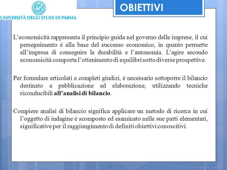 48 RICLASSIFICAZIONE DEL CONTO ECONOMICO Ogni riclassificazione del Conto Economico terminerà quindi con la stessa suddivisione dei conti.